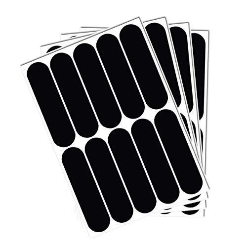 Jiuwei - Lote de 10 pegatinas reflectantes para bicicleta, cochecito, casco, moto, juguetes, bandas de 7 x 1,8 cm, color negro