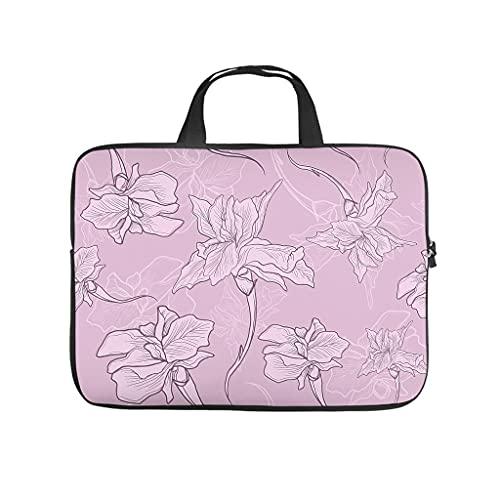 Funda protectora antiestática para portátil con diseño de flores de cerezo japonés, ideal como regalo a medida, Blanco, 15 pulgadas,