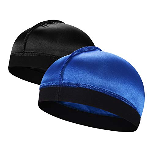 2PCS Silky Stocking Wave Cap for Men, Good Compression Over Durag,1Group B