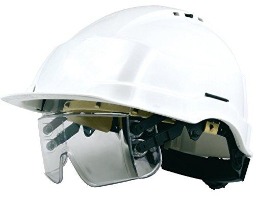 Schutzhelm Iris2 Helm mit Brillen-Maske weiß