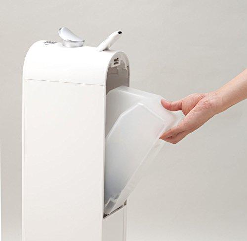 コイズミ 加湿器 超音波式 タワー型 UV除菌 ホワイト KHM-5571/W