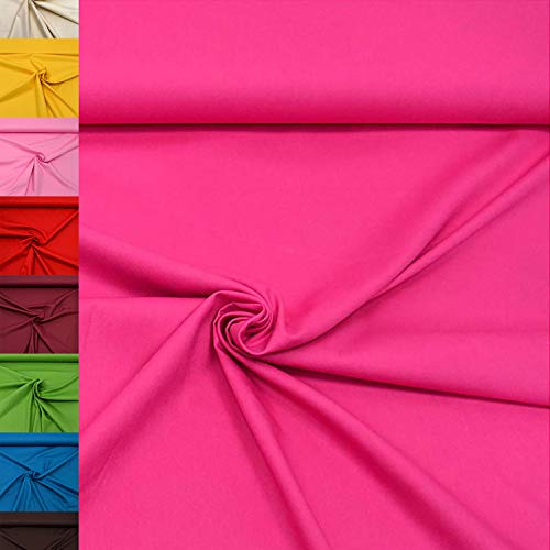 MAGAM-Stoffe Sophie Baumwollstoff Uni 100% Baumwolle Oeko-Tex Meterware 50cm (08. Pink)