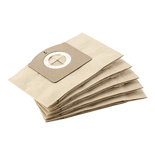 Kärcher 4054278502946 Papierfilterbeutel, 5 Stück für WD 1 Compact Battery
