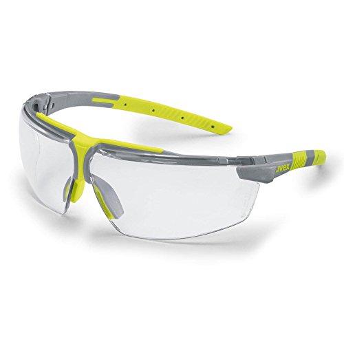 UVEX Schutzbrille i-3 add + 2.0 Dioptrien, Augenschutz, Sicherheitsbrille, Arbeitsschutzbrille mit klarer Scheibe