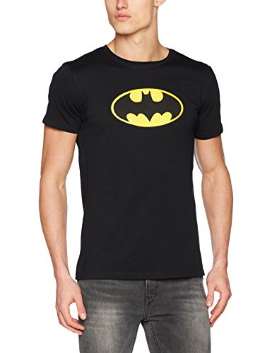 MERCHCODE Herren Batman Logo Tee T-Shirt, Black, L