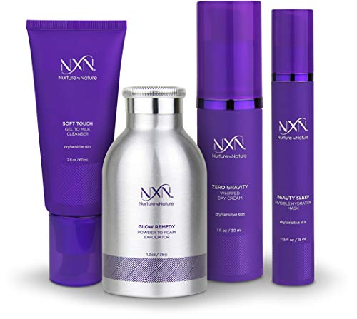 NxN Total Moisture 4-Step Anti-Aging Treatment & Dry Skin Facial System, Skin Care Kit with...