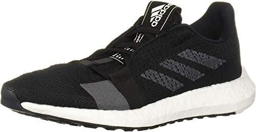 adidas Women's SenseBOOST GO Running Shoe, Black/Grey/White, 10.5 M US