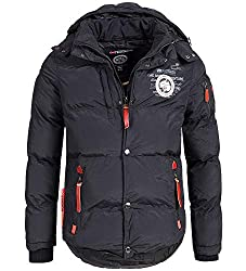 Geographical Norway Herren Winterjacke Verveine Black L