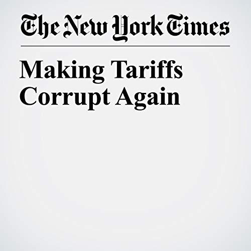 Making Tariffs Corrupt Again audiobook cover art