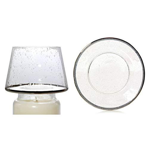 Yankee Candle Kensington Pantalla y Plato de Cristal Transparente, tamaño Grande