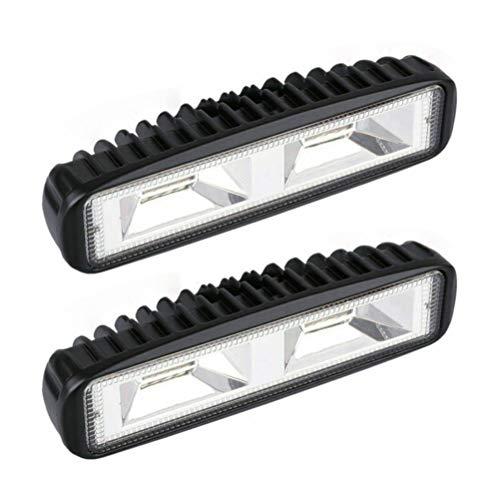 HUSHUI Luces de Trabajo LED Recargables, 2 Piezas 48W 16 LED Luz de Trabajo Luces de Trabajo Todoterreno Impermeables para Motocicleta, automóvil, ATV, SUV, Tractor