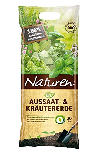 Substral Naturen Bio Aussaat-& Kräutererde, feine Spezialerde für Aussaaten, Pikieren und Stecklingsvermehrung, 20 Liter