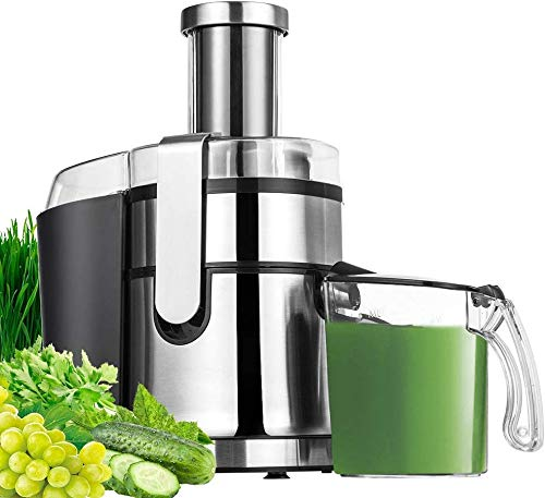 Soft//Hard Juicing Choice Jocuu Slow Masticating Juicer Extractor with Brush /& Recipes Juicer Machines Reverse Function Anti-Clogging Cold Press Juicer Easy to Clean Quiet Motor