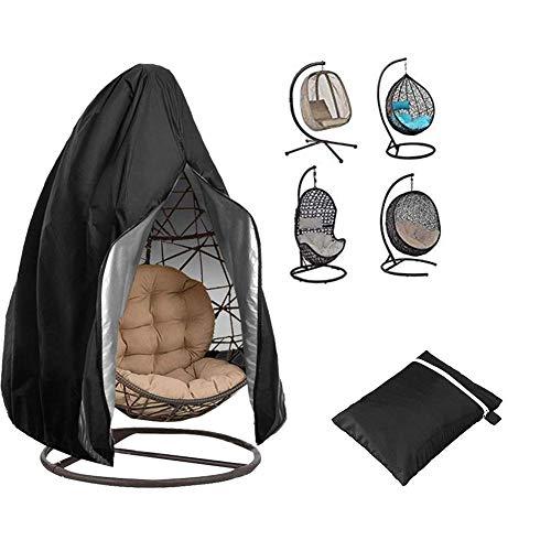 aheadad - Funda de sillón suspendida, soporte para silla giratoria para huevo de mimbre exterior cubre el protector de muebles de jardín Veranda resistente al agua y al polvo
