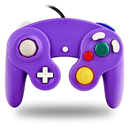 TechKen Gamecube Controller Joystick für Wii Wired Game Controller Joypad Dual Vibration NGC Gamepad Game Cube Original Controller Gamecube Spiele für GC (Purple)