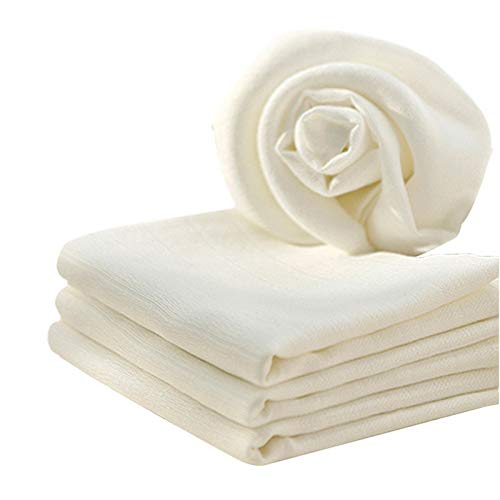 JUN-H Set 3 Pezzi Panno di Formaggio Setaccio Cotone Naturale Tessuto per Formaggio Panno di Mussola non Sbiancato Panni Filtro per Garza per Formaggio Lavabile e Riutilizzabile 100x100 cm