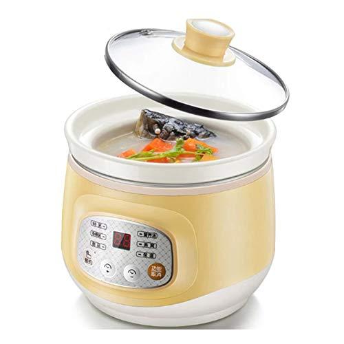 GAYBJ Haushalt Elektro-Smart Slow Cooker weiße Porzellan-Porridge Suppe Dünsten Maschine Mini Timer-Steuerung Babynahrung Dampfer 1L