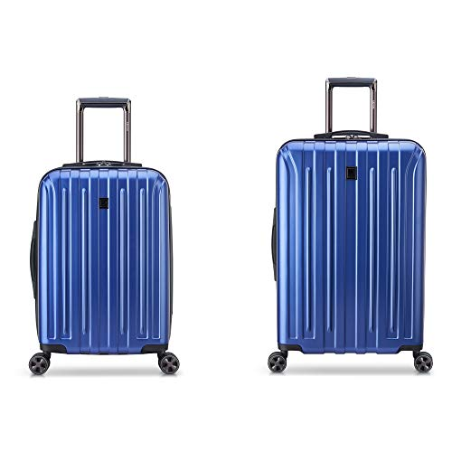 2-Piece Delsey Paris Titanium DLX Hardside Spinner Luggage Set (Blue) $50 + Free Shipping