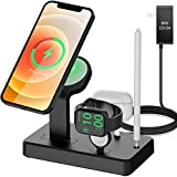 HATALKIN 36W Charger Stand for Magsafe Charger Apple Watch AirPods/Pro iPhone 12/Pro/Max/Mini Charging Station for Multiple Devices Products Holder Desk Dock Base Mount(Magsafe iWatch NOT Included)