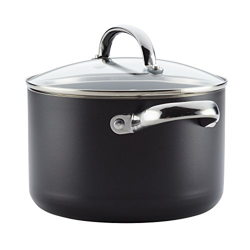 Farberware 22004 Buena Cocina Nonstick Stock Pot/Stockpot/Soup Pot with Lid - 4 Quart, Black