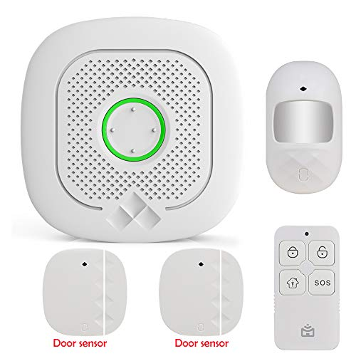 Smart Alarmanlage 433 MHz WiFi Gateway Host & Siren App für Fernelefon 2-in-1 App kompatibel mit Amazon Alexa Voice Control Verbinden Sie mit Smart Switch und WiFi Kamera, kit 1, 1