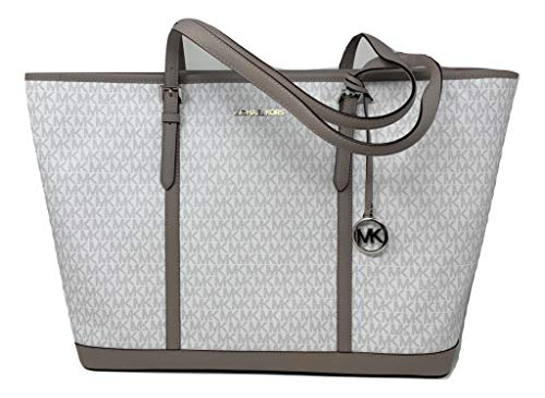 Michael Kors Jet Set Travel Carry All XL Weekend Travel Optic White...