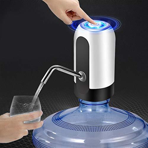 Longspeed Elektrischer Wasserspender Tragbarer Gallonen-Trinkflaschenschalter Intelligente kabellose Wasserpumpen-Wasseraufbereitungsgeräte - Weiß