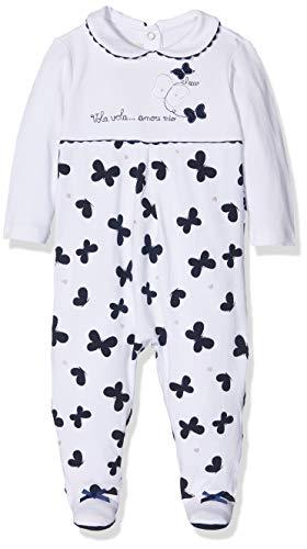 Chicco Baby-Mädchen Tutina Con Apertura Sul Patello Playsuit, Blau (Bianco E Blu 038), 50 (Herstellergröße: 056)