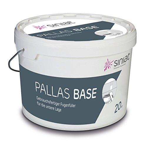 Siniat Ferigspachtelmasse Pallas Base | Fugenfüller für die untere Lage | sofort einsetzbar | 20-kg Eimer