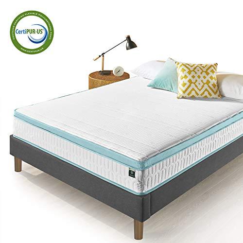 Zinus 10 Inch Mint Green Memory Foam Hybrid Spring Mattress, Queen