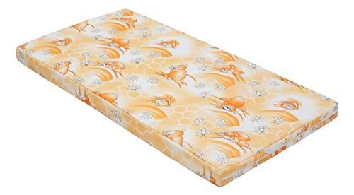 Kinderbettmatratze, Babymatratze 60x120 cm Kinder-Rollmatratze (Orange)