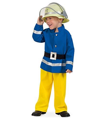 KarnevalsTeufel Kinderkostüm Feuerwehrmann - Feuerwehr Kleiner Held (116)