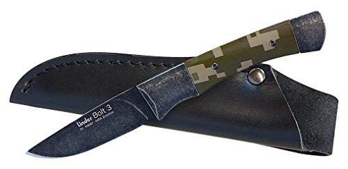 Linder Bolt 3440A blackwashed G10 Camouflage Klinge Couteau de Voyage. Mixte, Multicolore, Taille Unique