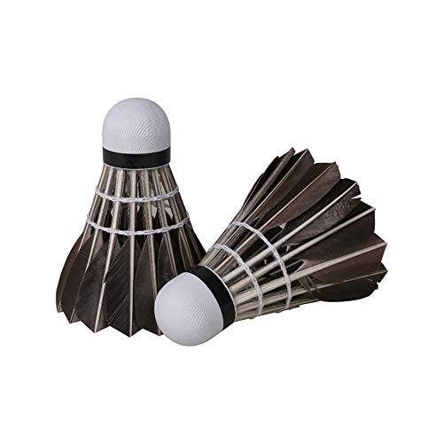 12 Pcs/Set Avanzada Pluma De Ganso Bádminton Estable De Alta Velocidad Volantes De Bádminton Durable Birdies Bolas Negro