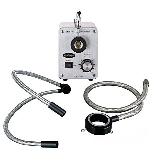 AmScope LED-50WYR 50W LED Fiber Optic O-Y Light Microscope Illuminator