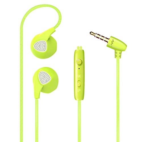 LQZ Universal Wired Sports Mobile Earphone Headset with Mic
