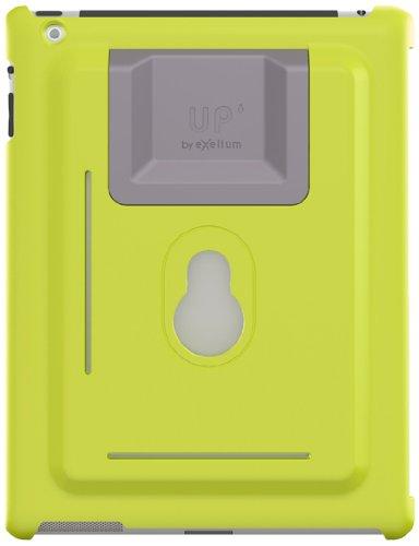 XFlat UP120G - 3in1 iPad Wandhalterung & Standfuß System für iPad mini, Farbe Schutzhülle: grün, Standfuß in 4 Positionen nutzbar für 25° oder 60° vertikal & 25° oder 60° horizontal