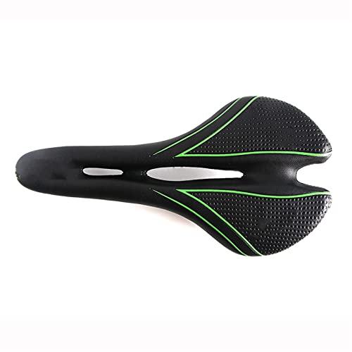 JINGGL Sillines de Bicicleta Nueva Sillín de Bicicleta Ultralight Mountain Bike Asiento Ergonómico Cómodo Onda Carretera Bicicleta Sillín Asiento de Ciclismo (Color : Black Green)