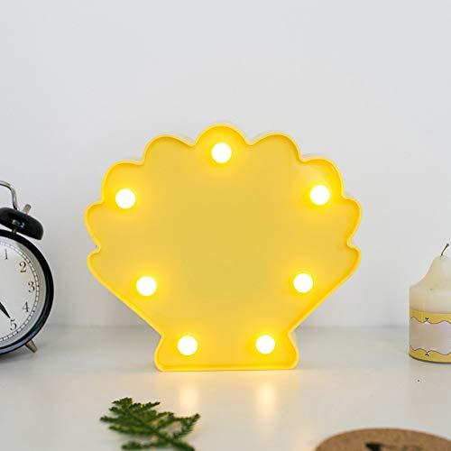 XHSHLID led-nachtlampje met warme, witte leds, modelleermat voor bureau, tafellamp, werkt op batterijen, decoratie voor slaapkamer voor kinderen