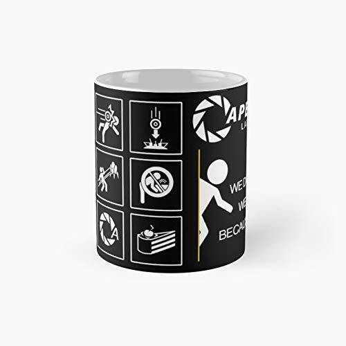 Klassische Tasse mit Portal-Videospiel-Motiv, lustiges Geschenk, 325 ml