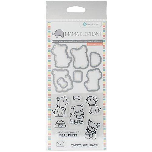 Mama Elephant SC0785 Stamp & Die Set 4'X8'-Puppy Play, Hampton Art, None