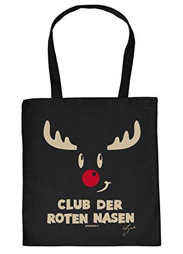 Stoffbeutel Weihnachten Oma Tasche Geschenkverpackung Einkaufstasche Rentier Rudolph mit der roten Nase Adventskalender Füllung Geschenke Idee Nikolaus :
