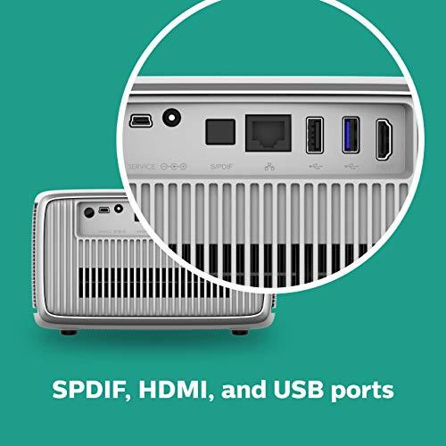 Philips Screeneo S4 (SCN450), All-in-One-Heimkinoprojektor Full HD, HDR, Short Throw, Bildgröße bis zu 120″, 1.800 Colour Lumen, Android, Apps, Autofokus, Digitalzoom