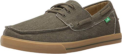 Sanuk Men's The Sea Man Slip-on, Army Green Washed, 8 M US