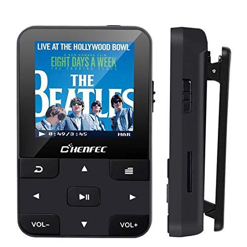 CCHKFEI Lettore MP3 Bluetooth 5.0 32GB,MP3 player per Sport,Lossless HiFi Musicale con Radio FM Contapassi Registrazione Video E-book,Supporto Fino a 128GB