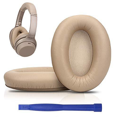SOULWIT® Almohadillas de Repuesto para Auriculares WH1000XM3, compatibles con Sony WH-1000XM3 con Espuma viscoelástica de Aislamiento de Ruido y Piel de proteína Suave