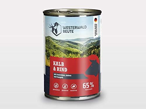 Westerwald-Beute Kalb & Rind mit Steckrüben, Quinoa und Mangold – 12x 400g Dose im Sparpack