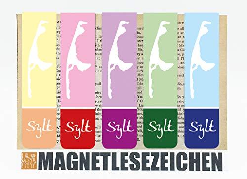 Lesezeichen Magnetisch Sylt Magnetische Lesezeichen 5 Stück 10 x 2,5 cm Schule Page Seiten Marker Book Marks Mitgebsel Nordsee Summertime Maritim