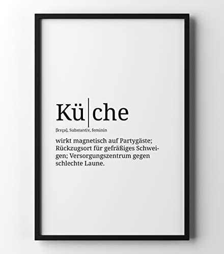Papierschmiede Definition: Küche | DIN A4 | Poster mit Worterklärungen wie im Duden für Deine Wanddeko | Kunstdruck für den Bilderrahmen