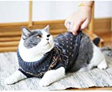 Evursua Cat Clothes Sweater for Kitten Small Dogs, Cats Winter Knit Clothing Warm Soft and High Stretch, fit Pet Male Female